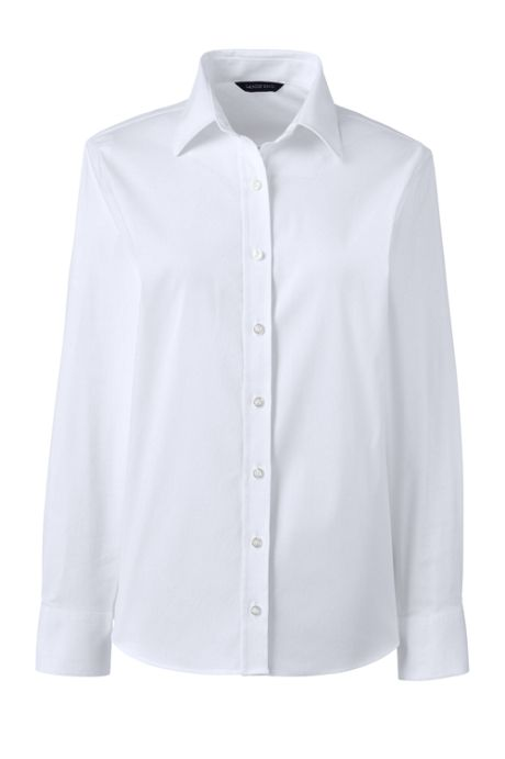 School Uniform Women's Petite No Gape Stretch Shirt