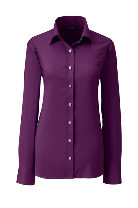 Women's Long Sleeve No Gape Stretch Shirt