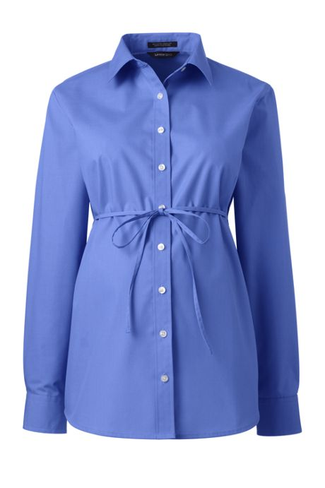 Maternity Long Sleeve Adjustable Broadcloth Shirt