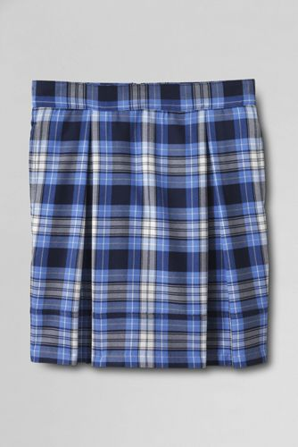 Girls Plaid Pleated Skort Top of Knee