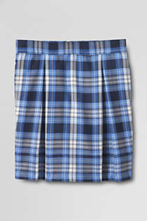 Girls Plaid Pleated Skort Top of Knee, Front