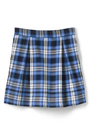 Women's Plaid Pleated Skort Top of Knee