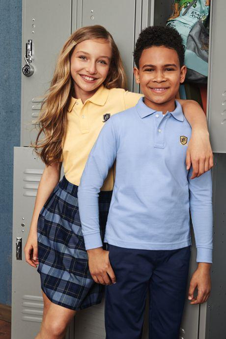 School Uniform Women's Plaid Pleated Skort Top of Knee