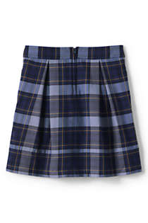 School Uniform Girls Plaid Pleated Skort Top of Knee, Front