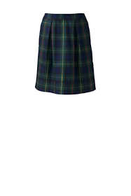 School Uniform Women's Plaid Pleated Skort Top of Knee
