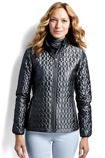 Lands End Womens Shimmer Packable Primaloft Jacket