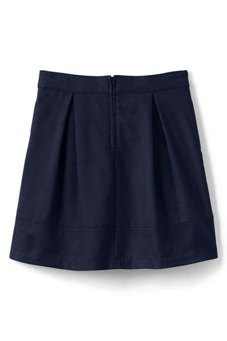School Uniform Girls Solid Pleated Skort Top of Knee