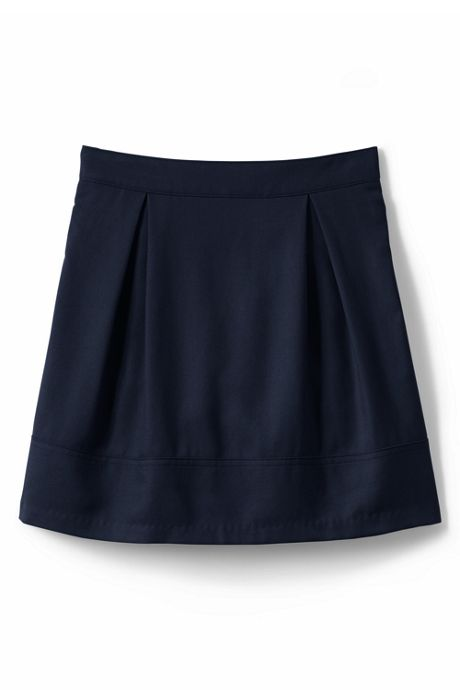 Little Girls Solid Pleated Skort Top of Knee