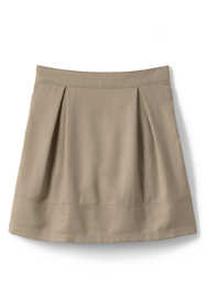 School Uniform Little Girls Solid Pleated Skort Top of Knee