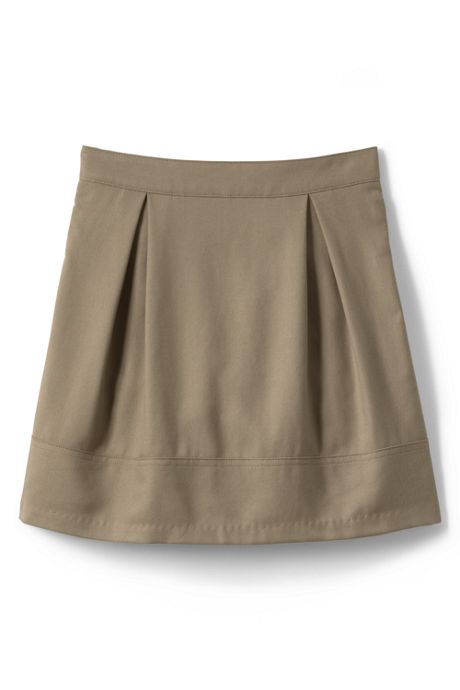 Girls Solid Pleated Skort Top of Knee