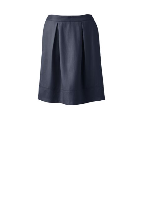 School Uniform Women's Solid Pleated Skort Top of Knee