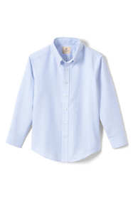 Little Boys Long Sleeve Striped Oxford Dress Shirt