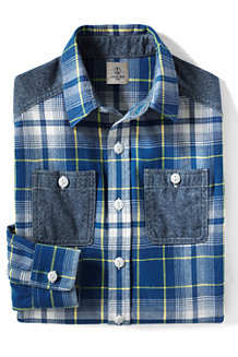 Boys' Colourblock Flannel Shirt