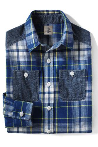 Little Boys' Colourblock Flannel Shirt