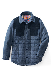 Boy's Long Sleeve Quilted Shirt Jacket