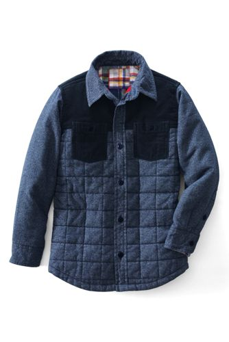 Little Boy's Long Sleeve Quilted Shirt Jacket