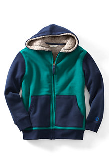 Boys' Colourblock Sherpa-lined Hoodie