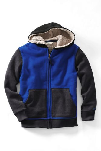 Toddler Boys' Colourblock Sherpa-lined Hoodie