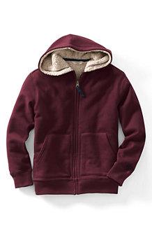Boys' Sherpa-lined Plain Hoodie