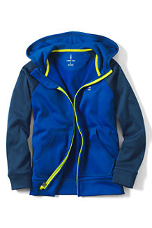 Boys' Zip-front Hooded Tricot Jacket