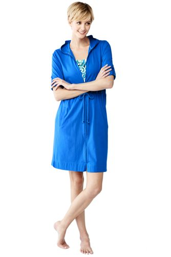 Women's Regular Cotton Hooded Cover-up