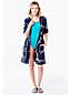 Women's Regular Roll Sleeve Nautical Hooded Cover up