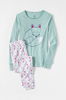 Girls' Snug-fit Cotton Pyjamas