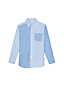 Little Boys' Colourblock Washed Oxford Long Sleeve Shirt