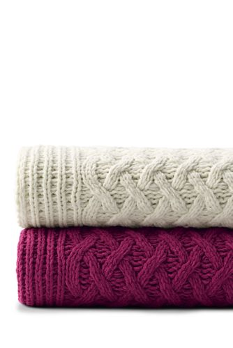 Chenille Cable Knit Throw