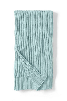 Chenille Ribbed Knit Throw