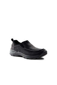 School Uniform Men's All Weather Suede Leather Slip On Moc Shoes