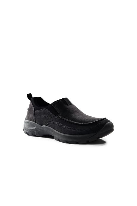 Men's Wide Width All Weather Suede Leather Slip On Moc Shoes