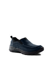 Men's All Weather Suede Leather Slip On Moc Shoes