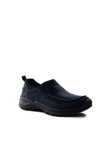 Men's Wide All Weather Suede Moc Shoes