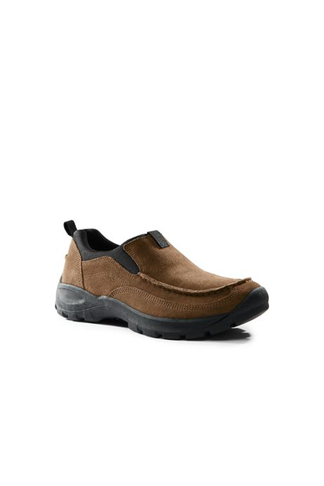 School Uniform Men's All Weather Suede Moc Shoes