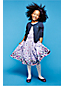 Little Girls' Short Sleeve Gathered Waist Twirl Dress