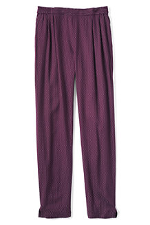 Girls' Drapey Print Twill Trousers