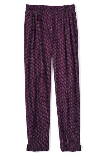 Little Girls' Drapey Print Twill Trousers