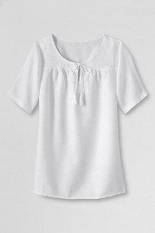 Women's  Notch Neck Linen Blouse