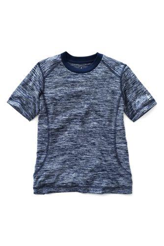 Meliertes Activewear T-Shirt für kleine Jungen