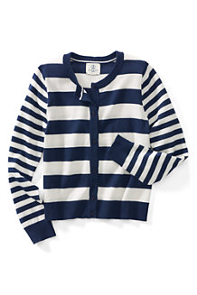 Girls' Long Sleeve Stripe Cardigan