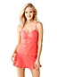 Women's Beach Living Adjustable Scoop Neck Tankini Lace Top