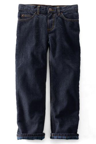Iron Knee® -Jeans mit Flanellfutter für kleine Jungen, Straight Fit