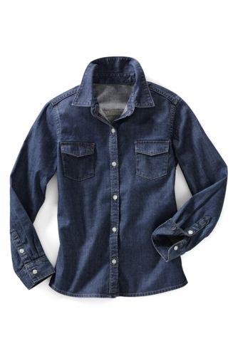 Denim-Bluse für kleine Mädchen