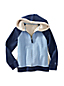 Little Girls' Long Sleeve Cable Quilted Sherpa Hoodie