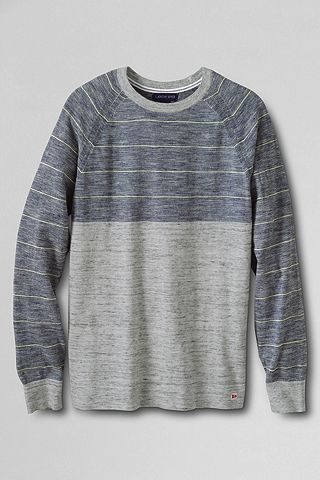 Mariner Stripe Tee Sweater 460767: Light Gray Jaspe