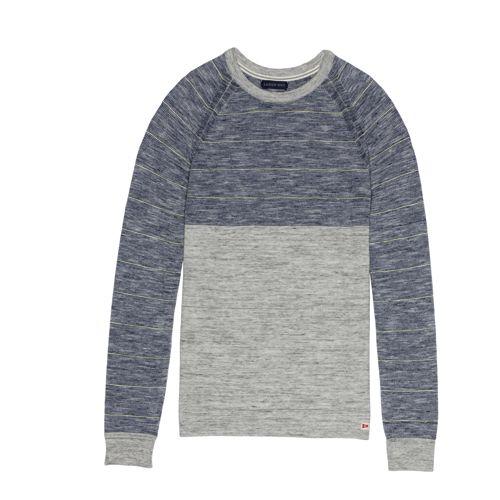 Maritimer Shirtpullover mit Streifen-Schulterpartie