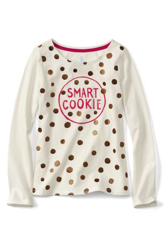 Little Girls' Long Sleeve Graphic Tee