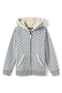 Girls' Patterned Sherpa Hoodie