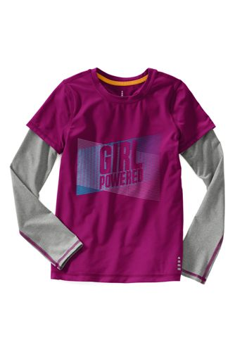 Little Girls' Long Sleeve Activewear Layering Tee